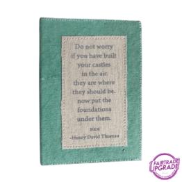 canvas notitieboek groen