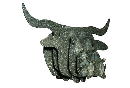3D Bull muurdecoratie