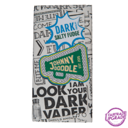 dark salty fudge johnny doodle chocolade