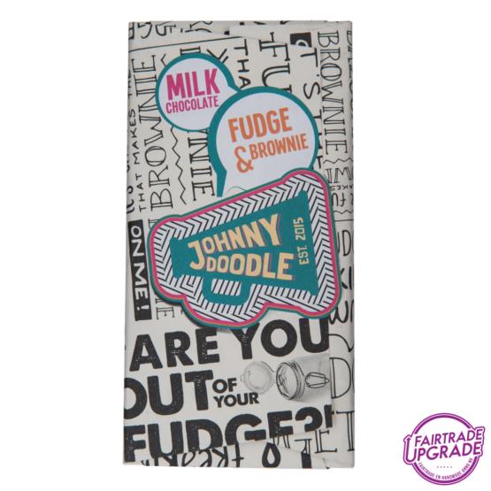milk fudge and browny Johnny Doodle chocolade