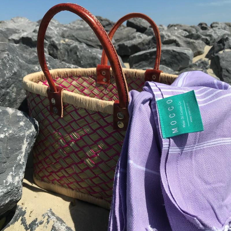 Naar t strand met je Mocco hamamdoek FairtradeUpgrade