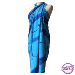 Gebatikte Pareo of Sarong blauw