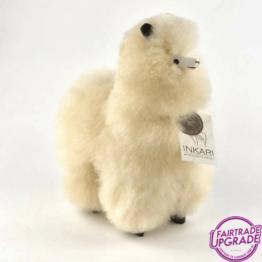 Fairtrade Alpaca Knuffel Beige Small