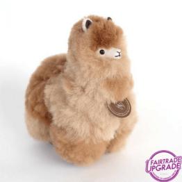Fairtrade Alpaca Knuffel Beige mix Small
