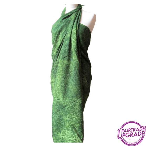 gebatikte-pareo-of-sarong-xl-celtic-groen