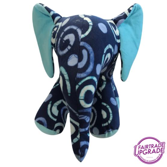 Knuffel Olifant Gebatikt Blauw