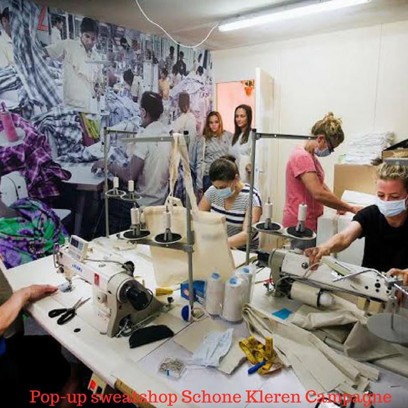 Pop-up sweatshop Schone Kleren Campagne