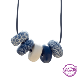Ketting Rondelle Navy-White Light