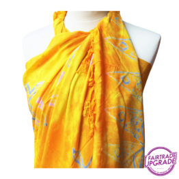 Gebatikte Sarong XL Beach Yellow Starfish