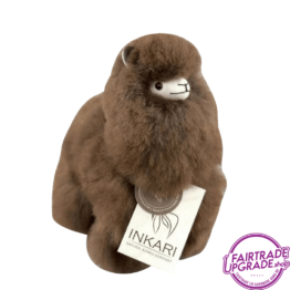 Fairtrade Alpaca Knuffel Bruin Small FairtradeUpgrade