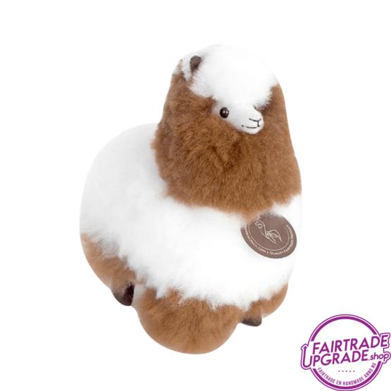 Fairtrade Alpaca Knuffel Bruin Ecru Small