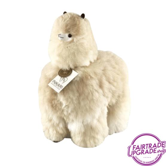 Fairtrade Alpaca Knuffel Beige Large