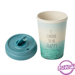 Bamboe Reisbeker Choose Happy open
