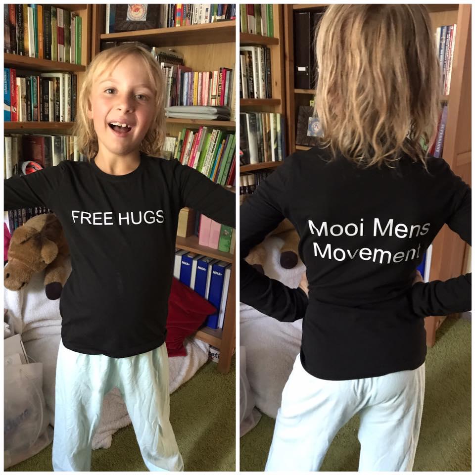 Rachell klaar voor de Free Hugs