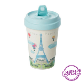 Bamboe Reisbeker Paris Watercollor