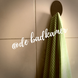 Hamamdoek in de badkamer
