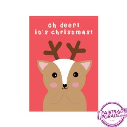 Kerstkaart voor kinderen O Dear! FairtradeUpgrade