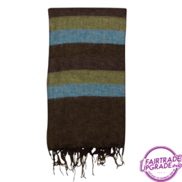 Warm Plaid Bruin Blauw Groen FairtradeUpgrade