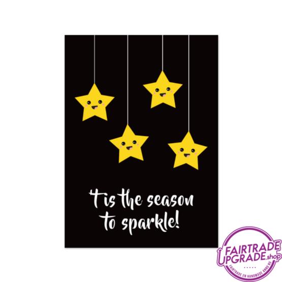 Kerstkaart voor kinderen Season to Sparkle FairtradeUpgrade