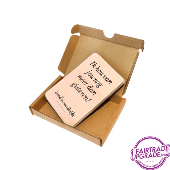 Broodtrommelliefde original in doosje FairtradeUpgrade