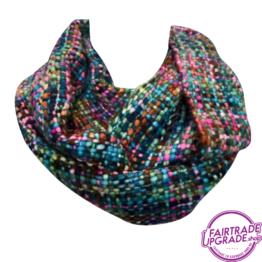 sjaal col Bont gekleurd FairtradeUpgrade