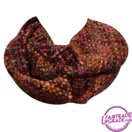 sjaal col Roze Bruin FairtradeUpgrade
