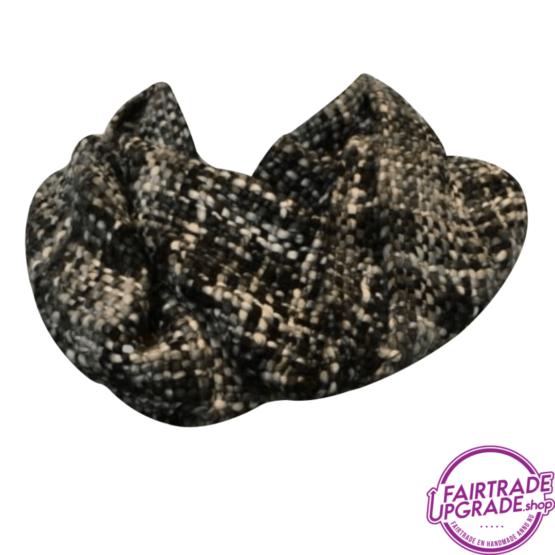 sjaal col Grijs Zwart FairtradeUpgrade