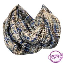 sjaal col Licht blauw FairtradeUpgrade