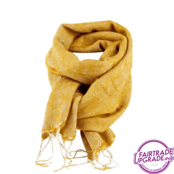 Sjaal effen Oker FairtradeUpgrade
