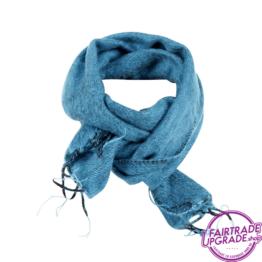 Sjaal effen Turquoise FairtradeUpgrade