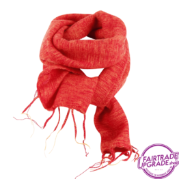 Sjaal effen Warm Oranje FairtradeUpgrade
