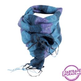 sjaal gestreept Turquoise Paars FairtradeUpgrade
