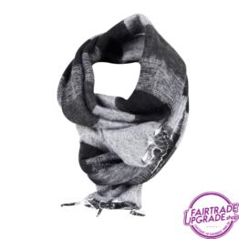 sjaal gestreept Zwart Grijs FairtradeUpgrade