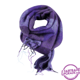 sjaal gestreept Licht paars paars FairtradeUpgrade