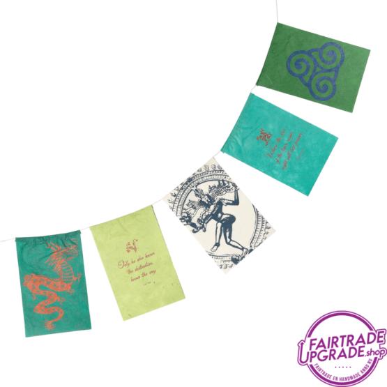 wenskaart wensvlaggetjes kracht FairtradeUpgrade