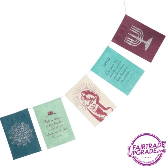 wenskaart wensvlaggetjes licht FairtradeUpgrade