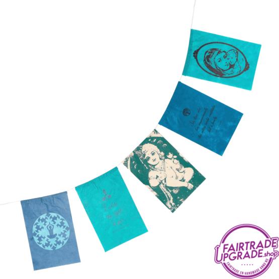 wenskaart wensvlaggetjes samen FairtradeUpgrade
