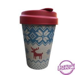 Bamboe Reisbeker Foute Kersttrui FairtradeUpgrade