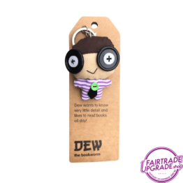 Fairtrade Sleutelhanger Dew the Bookworm FairtradeUpgrade