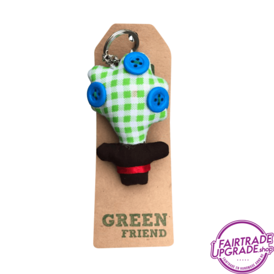 Fairtrade Sleutelhanger Green Friend 2 FairtradeUpgrade