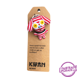 Grappige Fairtrade Sleutelhanger Kwan FairtradeUpgrade