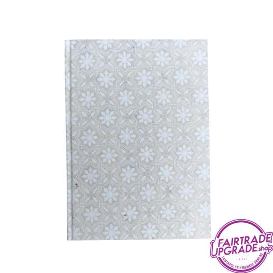 Notitieboek Beige Witte Bloem FairtradeUpgrade