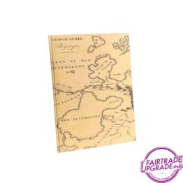 Notitieboekje oker landkaart FairtradeUpgrade