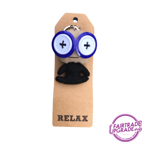 Grappige Fairtrade Sleutelhanger Relax FairtradeUpgrade