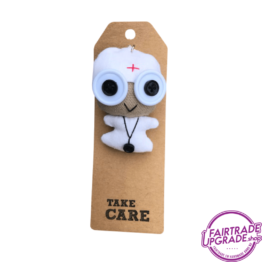 Grappige Fairtrade Sleutelhanger Take Care FairtradeUpgrade