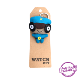 Grappige Fairtrade Sleutelhanger Watch Out FairtradeUpgrade