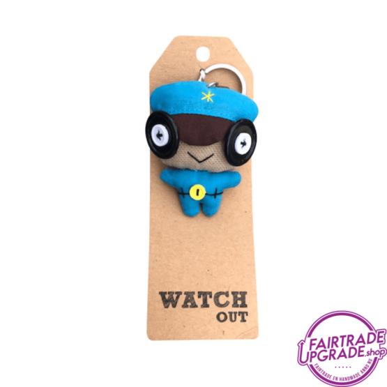 Grappige Fairtrade Sleutelhanger Watch Out FairtradeUpgrade