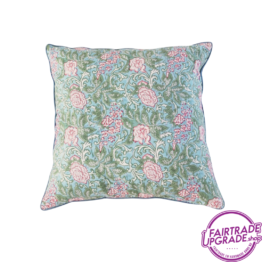 Kussen Chintz Roza en Blue FairtradeUpgrade