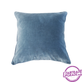 Kussen Chintz Roza en Blue back FairtradeUpgrade