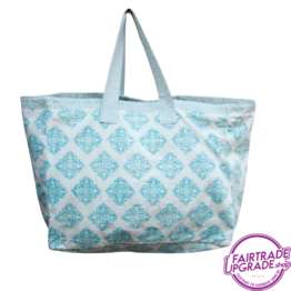 Shopper Strandtas Checkers FairtradeUpgrade